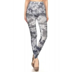 ShoSho Tie Dye Gray/White Leggings